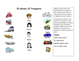 Spanish Speaking Activity with Transportation Vocabulary