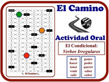 Spanish Conditional (Irregular Verbs) Speaking Activity. Quick Set-Up.
