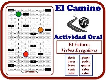 Spanish Future (Irregular Verbs) Speaking Activity. Quick Set-Up.