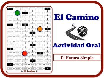 Spanish Future (Regular Verbs) Speaking Activity. Quick Set-Up.