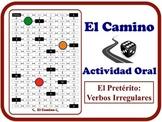Spanish Preterite (Irregular Verbs) Speaking Activity.  Quick Set-Up.