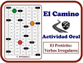 Spanish Preterite (Irregular Verbs) Speaking Activity.  Qu