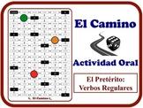 Spanish Preterite (Regular Verbs) Speaking Activity.  Quick Set-Up.