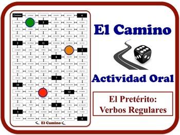 Spanish Preterite (Regular Verbs) Speaking Activity.  Quic