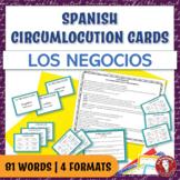 Spanish Speaking Circumlocution Task Cards | Los negocios