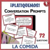 Spanish Speaking Conversation Prompt Task Cards   La comid