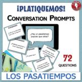 Spanish Speaking Conversation Prompt Task Cards   Los pasa