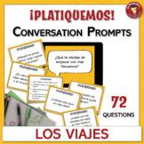 Spanish Speaking Conversation Prompt Task Cards   Los viaj
