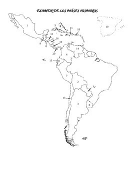 Blank Map Of Spanish Speaking Countries Spanish Speaking Countries by La Profe E | Teachers Pay Teachers Blank Map Of Spanish Speaking Countries