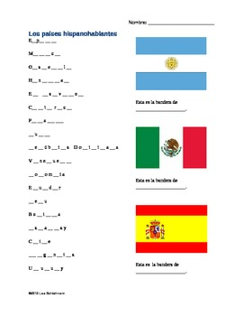 Spanish Speaking Countries Activity