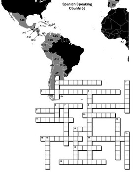 Spanish Speaking Countries CROSSWORD PUZZLE