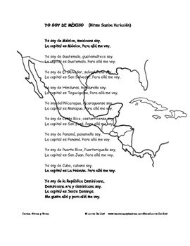 Spanish – Speaking Countries, Capitals and Nationalities 2   Song/Chant