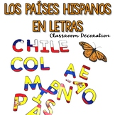 Spanish-Speaking Countries Letters {Classroom Decoration}