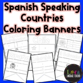 Spanish Speaking Countries Coloring Banners