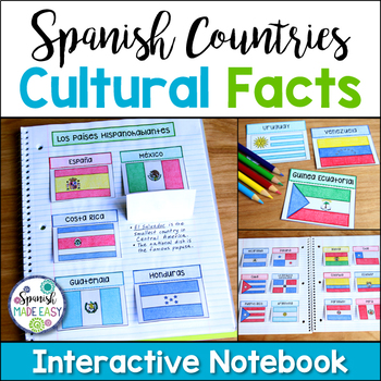 Spanish-Speaking Countries (Cultural Facts) Interactive Notebook Activity