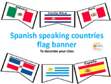 Spanish Speaking Countries Flag Banner