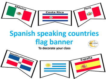 Spanish Speaking Countries Flag Banner