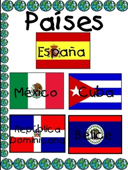 Spanish Speaking Countries Flags