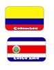 Spanish Speaking Countries Flags - Apps shape