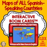 Spanish Speaking Countries, Geography Boom Cards, Click and Play, Maps