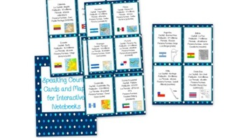 Spanish Speaking Countries Interactive Notebook Cards and Maps