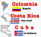 Spanish Speaking Countries Labels