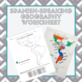 Spanish Speaking Countries Map Activity