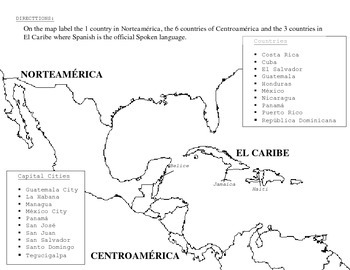 Spanish Speaking Countries Map Exercise