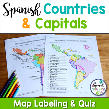 Spanish speaking countries and capitals maps and quiz by spanish spanish speaking countries and capitals maps and quiz gumiabroncs Images