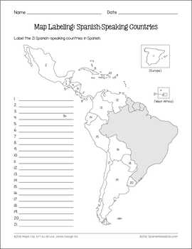 Spanish-Speaking Countries and Capitals Maps and Quiz by Spanish ...