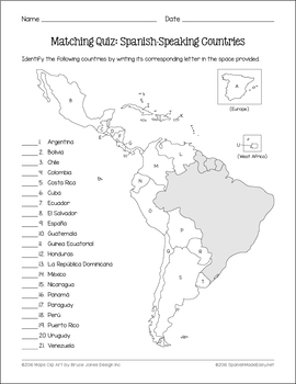 Speaking countries spanish Naming Conventions