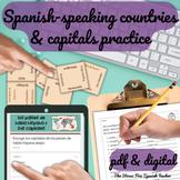 Spanish Speaking Countries Maps Practice Activities Quizze