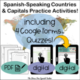 Spanish Speaking Countries Maps Practice Activities Quizzes and Puzzles