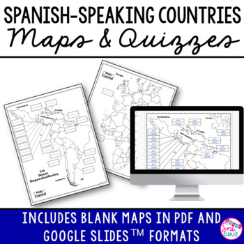 spanish speaking countries maps and quizzes by sra cruz tpt. Black Bedroom Furniture Sets. Home Design Ideas