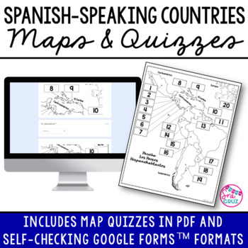 Spanish-Speaking Countries Maps and Quizzes by Sra Cruz | TpT