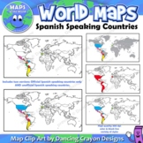 Spanish Speaking Countries | Maps of the World Clip Art