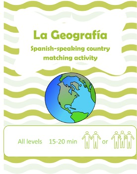 Spanish-Speaking Countries Geography Matching Activity