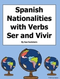 Spanish Speaking Countries and Nationalities with Verbs Ser and Vivir