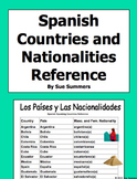 Spanish Speaking Countries and Nationalities Reference - Distance Learning