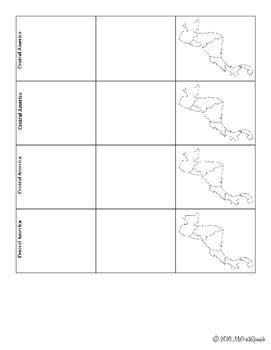 Spanish Speaking Countries Notes Sheet