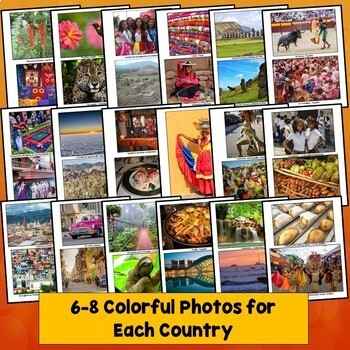 Spanish Speaking Countries PowerPoint, Photos, Facts, Class Decorations