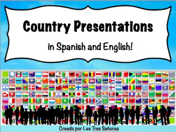 Spanish Speaking Countries Presentation (in Spanish and English) EDITABLE