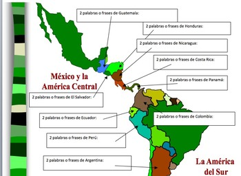 Spanish Speaking Countries Project with Maps/Flags/Common Words