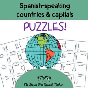 Spanish Speaking Countries Puzzle, Magic Squares / Matchin