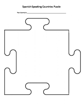 Spanish-Speaking Countries Puzzle Piece Project