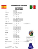 Spanish Speaking Countries Puzzles Paises hispano-hablantes Actividades