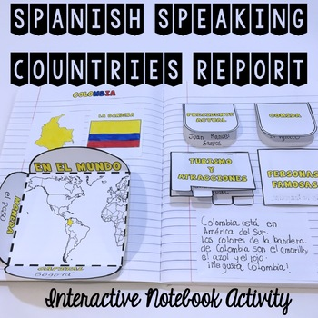 Spanish Speaking Countries Report {Interactive Notebook}