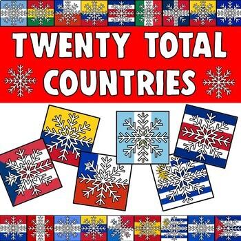 Spanish Speaking Countries Snowflake Tiles Bulletin Board Border