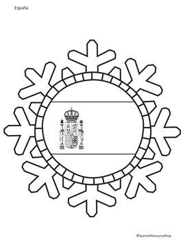 Spanish Speaking Countries Snowflakes