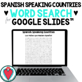 Spanish Speaking Countries - Word Search for Google Slides